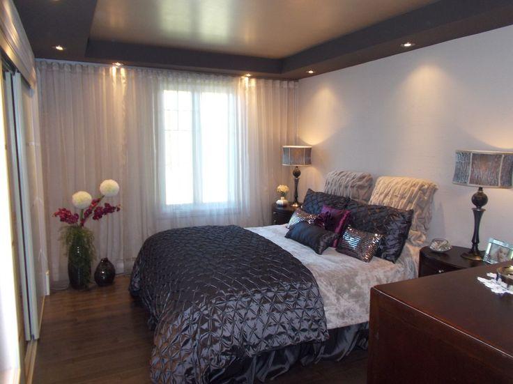 Chambre À Coucher, Design D'Intérieur, Chic, Gris Et Blanc