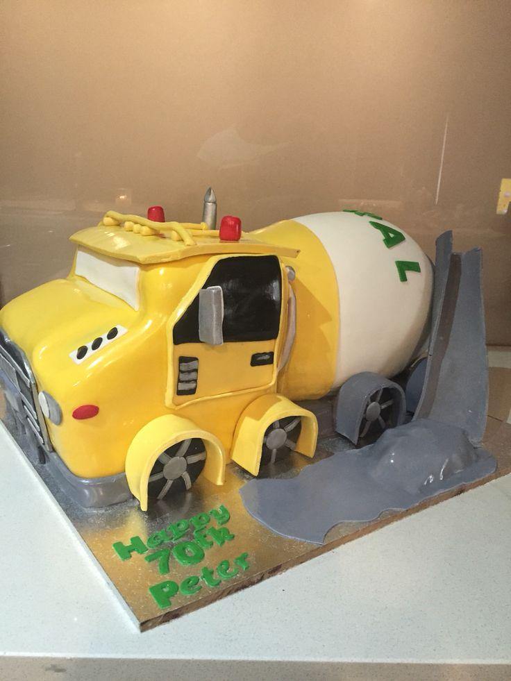 Cement Truck Birthday Cake