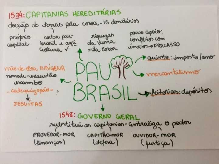 Estudante posta no Facebook resumos de História do Brasil