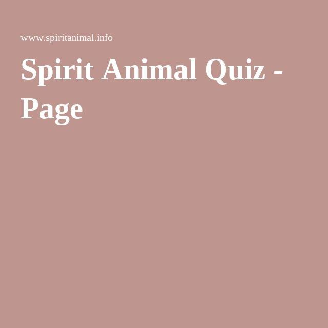 Spirit Animal Quiz - Page 6