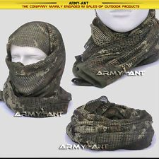 Russian YEGER Woodland Camo Tactical Mesh Scarf Wrap Mask Shemagh Sniper Veil