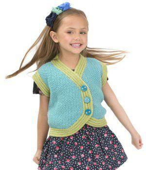Sweet Seed Stitch Vest | AllFreeKnitting.com