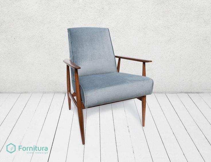 Fotel Grey Velvet w Fornitura na DaWanda.com