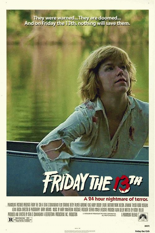 Hope everyone had a great Friday the 13th!! Movie Poster GIF - Friday the 13th (1980)~ May 2016
