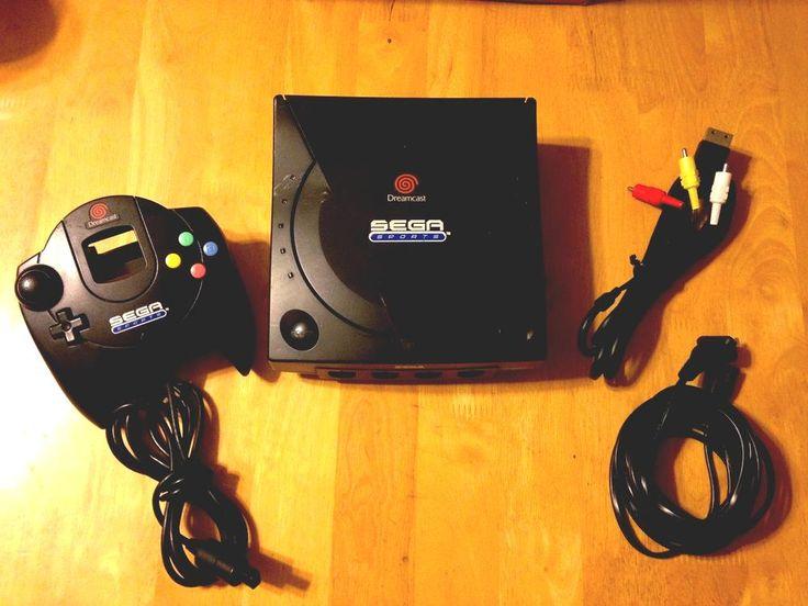 #sega sports edition black dreamcast system console bundle w/ matching…