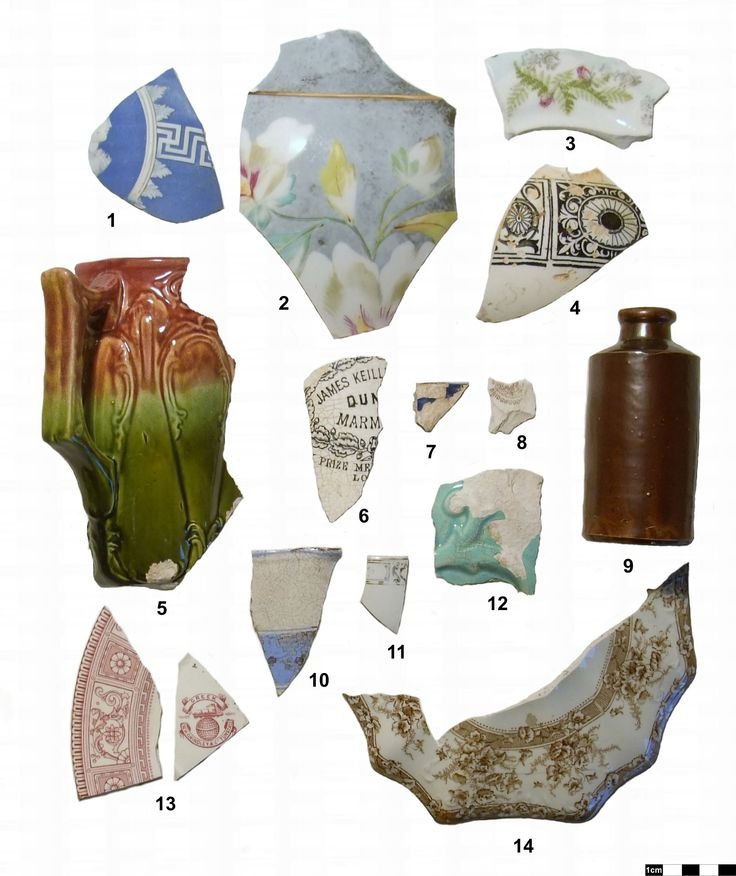This sample of ceramics was excavated near Brampton, Ontario.  The artifacts range in date from 1805 to the present! Click on the link for full ceramic descriptions and dates! Here are sample descriptions of these ceramics: 2 Over Glaze Late Palette Painted and Gilding ca 1870-Present 5 Dipped Refined White Earthenware ca 1830s-1850s 7 Blue Flow Refined White Earthenware ca 1845-1890s 9 Albany Slip Stoneware ca 1805-920 13 W.H. Grindley & Co. Red Transfer Refined White Earthenware ca…