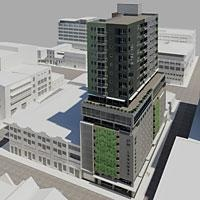 27 Leeuwen Street. A mixed-use building designed by Design 360 Architects that will rise to 19 storeys in the CBD.