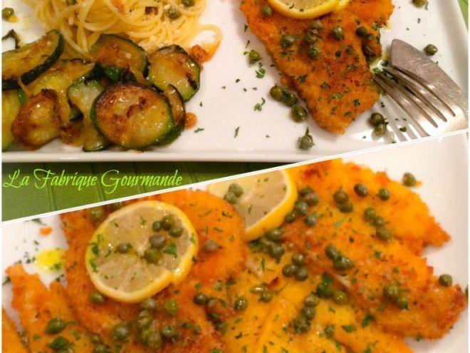 Recette Plat : Filets de limande panés alla piccata par Inbar