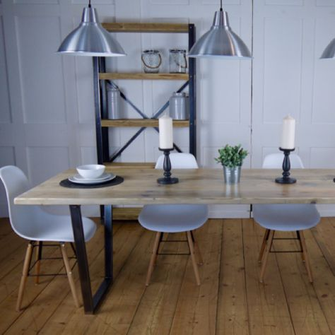 Industrial Style Reclaimed Dining Table... available in Bespoke sizes.