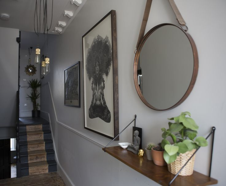 Jenny's hallway featuring Dan Hillier's 'Nights Dream' which can be found here: http://www.nellyduff.com/gallery/dan-hillier/nights-dream #art #interiors #print #DanHillier #bronze #wood #monochrome #nellyathome