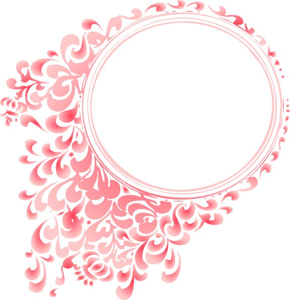 pretty frames for pictures online | pink gradient round border clip art