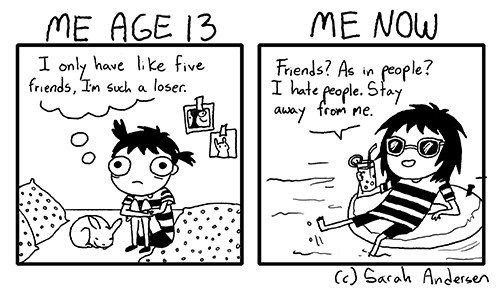 How our thinking about friends has changed over time… | 17 Cartoons That All Twentysomethings Will Be Able To Relate To