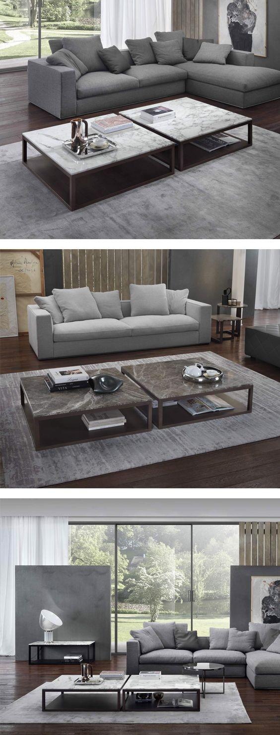 Das Geradlinige Design Des Couchtisch Marrelli Stone Aus Holz Und Marmor Sorgt Fr Zeitlose Eleganz
