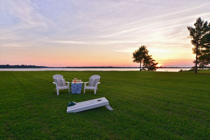 Summer sunset along the James River, from my waterfront listing known as 'The Cottage at Sandy Point.'  What a fun photo shoot, for its brochure and MLS.  (Thanks, Erica!)