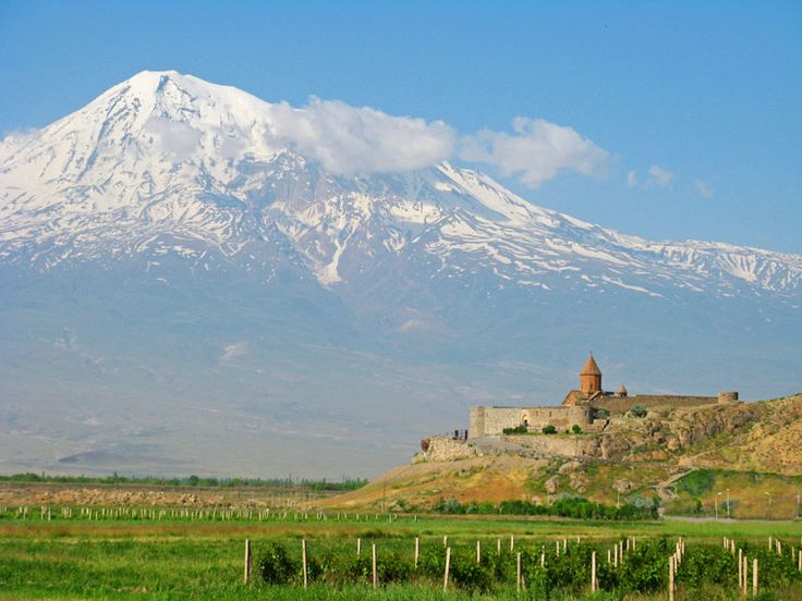 Armenia. Khor Virap (Mount Ararat beyond and so is the border with Iran) is one of the most popular destinations in Armenia for a number of reasons, primarily because it is where Grigor Luisavorich (St. Gregory the Illuminator) was imprisoned for 13 years before curing King Trdat III of a disease. This caused the conversion of the king and Armenia into the first officially Christian nation in the world in the year 301.
