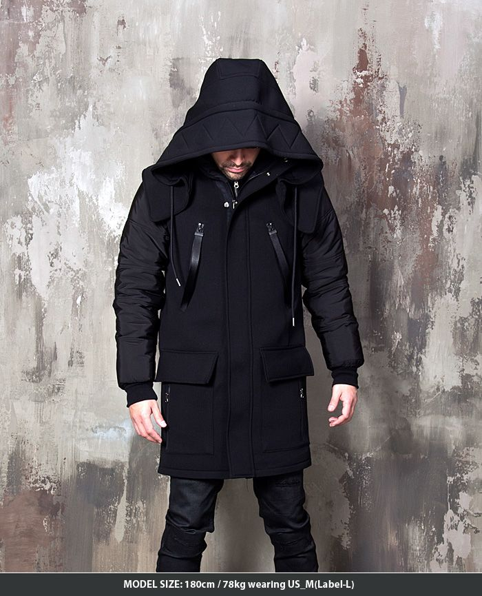 Outerwear - Multiple accent detachable hood neoprene parka - 28 for only 168.00 !!!
