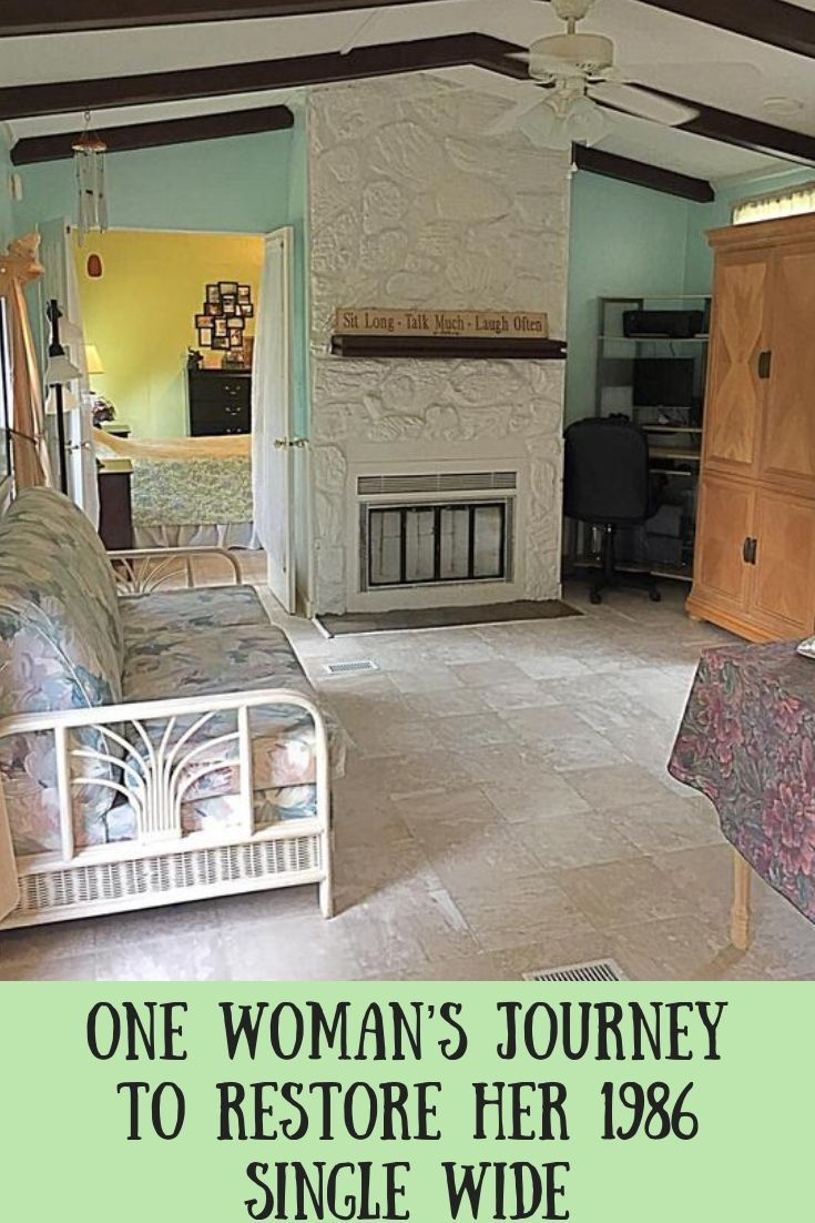 One Woman S Journey To Restore Her 1986 Single Wide Remodeling Mobile Homes Manufactured Home Remodel Mobile Home Floor Plans