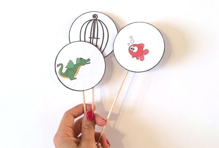 Thaumatropes rigolos - Activité manuelle - DIY - Bricolage enfant