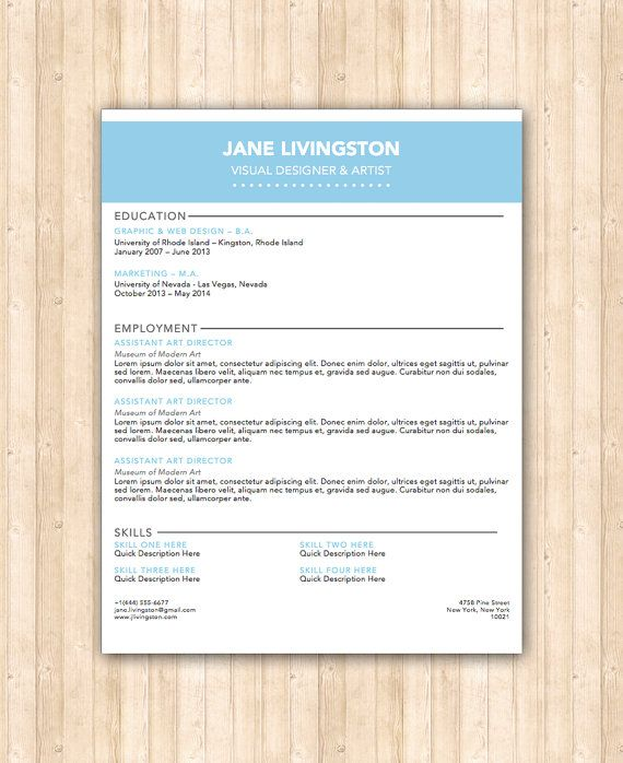 17 best images about our resume templates on pinterest
