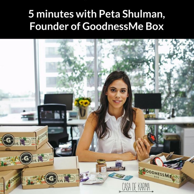 5 minutes with Peta Shulman, Founder of @GoodnessMeBox. In this incredibly inspiring interview, we dive deep into Peta's journey as she shares her stories and tips for success in entrepreneurialism and wellness. Click the link to read.