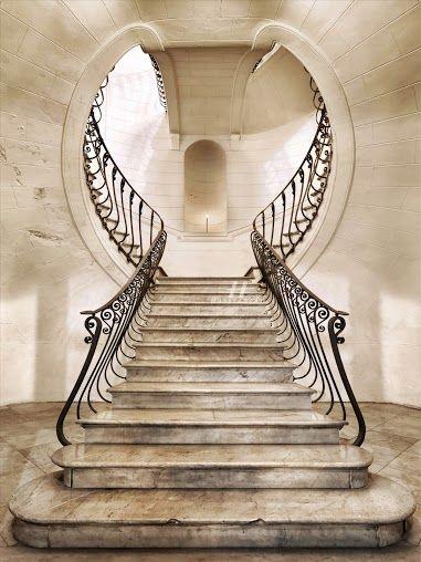 Escalera-de-estilo-Art-Noveau