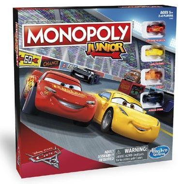 Monopoly Junior Disney Cars 3 editie  Het bekende Monopoly Junior bordspel in speciale Disney Cars 3 editie.  EUR 25.49  Meer informatie