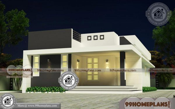 G 1 Residential House Plan With Low Cost Small Flat Roof Design Ideas Flat Roof Design House Outside Design Residential House