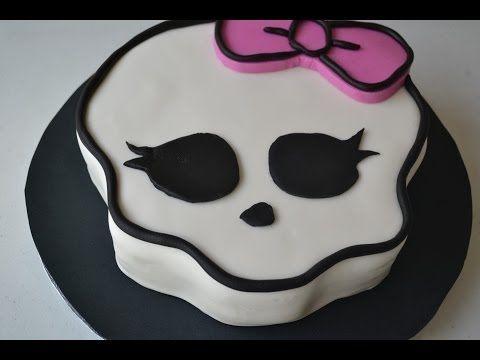 ▶ Monster High Cake (How to make the Skull logo) - YouTube