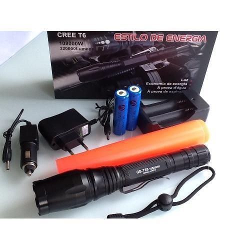 Lanterna Tática Forte Led Police 258.000w - Shoptime.com
