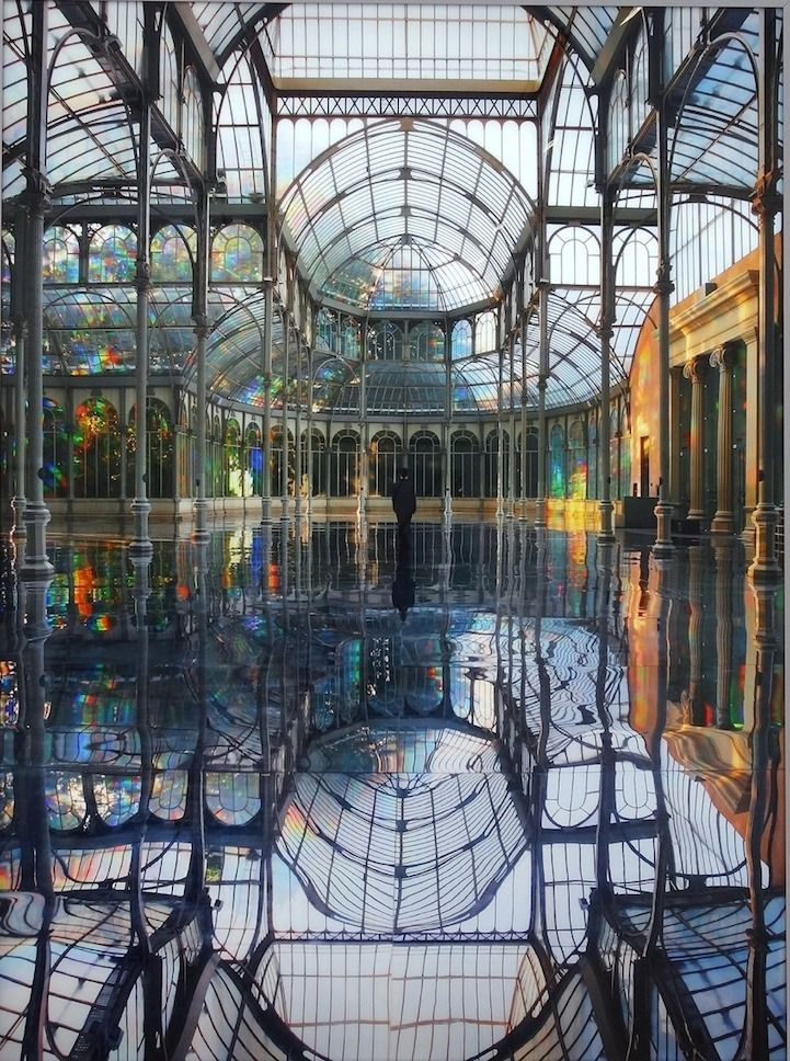 To Breathe - A Mirror Woman is Kimsooja's 2006 site-specific installation for the Palacio de Cristal in Madrid, Spain.