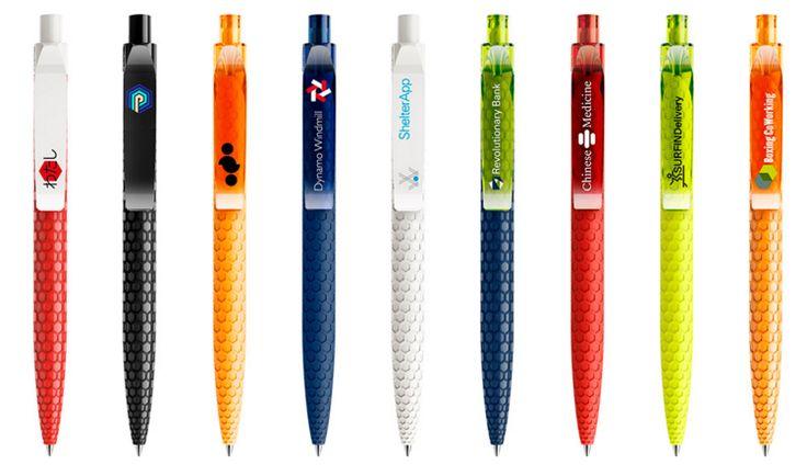 Kugelschreiber, Schreibgerät, Werbekugelschreiber mit wabenartig strukturierter Oberfläche, Werbemittel von prodir