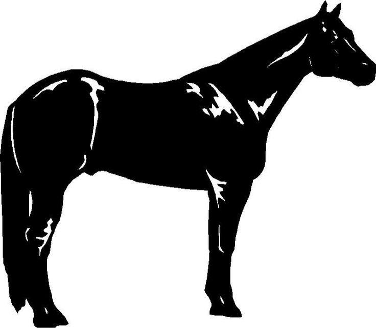 Quarter Horse Running Silhouette ... silhouette ...
