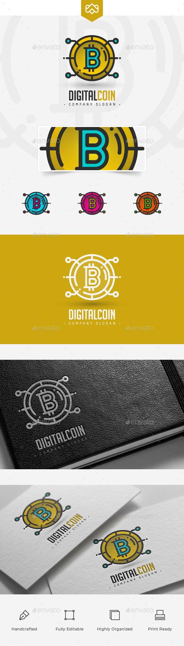 Bitcoin Logo - Symbols Logo Templates #logo #logodesign