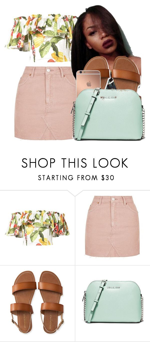 """"""""""" by bruhitsashia ❤ liked on Polyvore featuring Isolda, Topshop, Aéropostale, Mura and MICHAEL Michael Kors"""