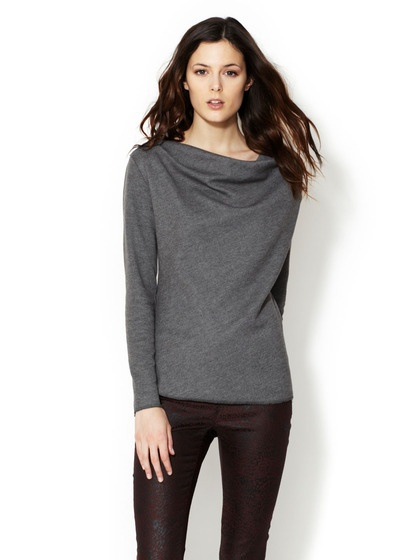 Double Face Drape Neck Top by Atwell on Gilt.com