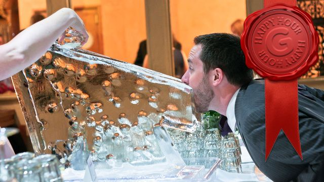 How To Make an Ice Luge In a Hotel Room. Haha!