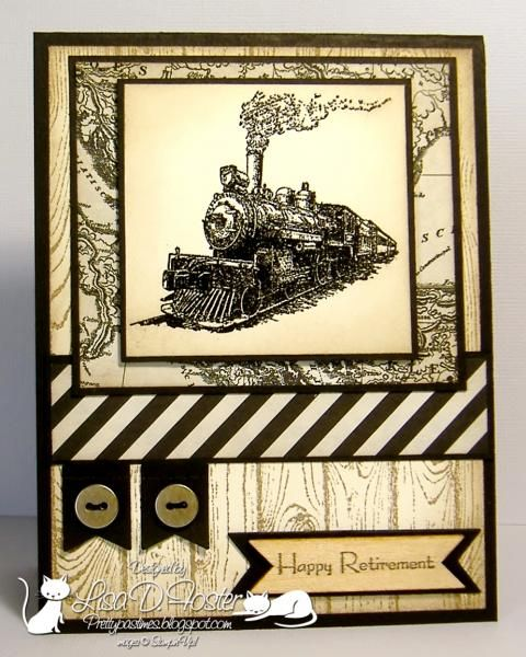Stamps: Stampin' Up! Traveler, Hardwood, Teeny Tiny Wishes Paper: Basic Black, Very Vanilla, Typeset Specialty DSP Ink: Versa Mark, Crumb Cake. Access...