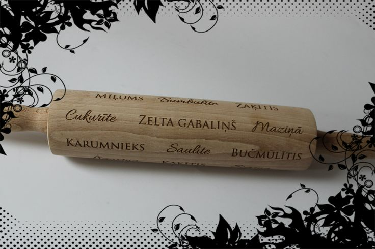 Laser engraved rolling pin! Sweet and tasteful gift! :)