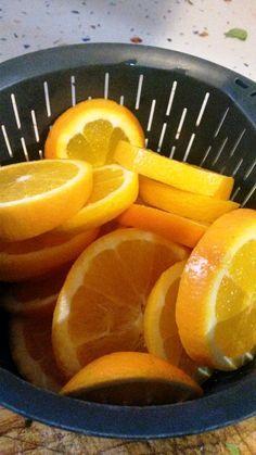 Naranjas confitadas con thermomix, especial para roscón de Reyes