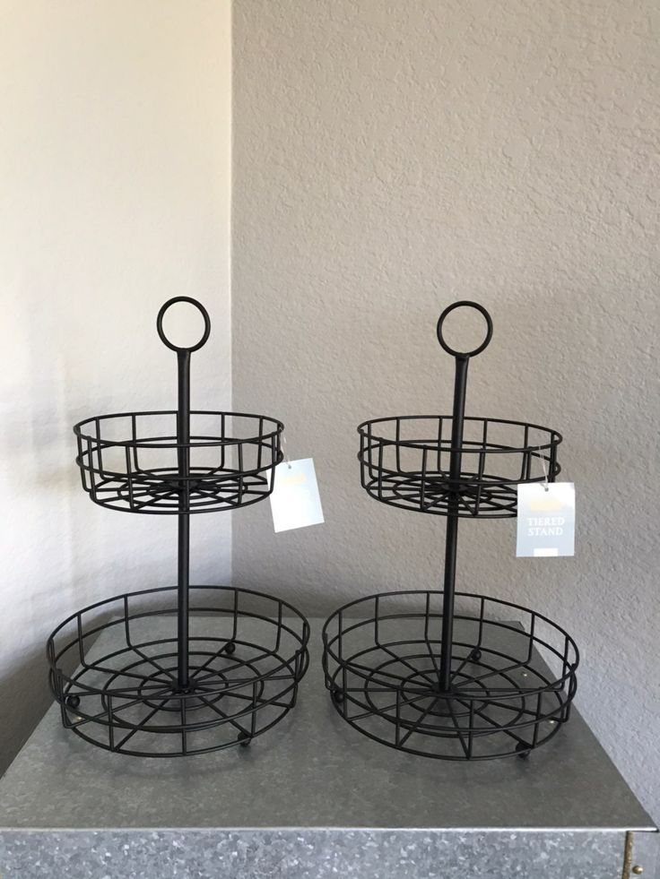 How cute is this tiered tray! So many uses for these! This listing includes 2 tr…