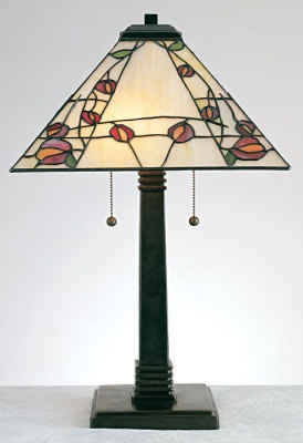 """Arts & Crafts Deco Rose Collection    Rennie Mackintosh left his distinctive, graphic mark...a clean rosebud amongst twiggy lines. This simple aesthetic has experienced a renaissance as of late, evidenced by the new love of a century-old design trend. 23x14x14""""."""