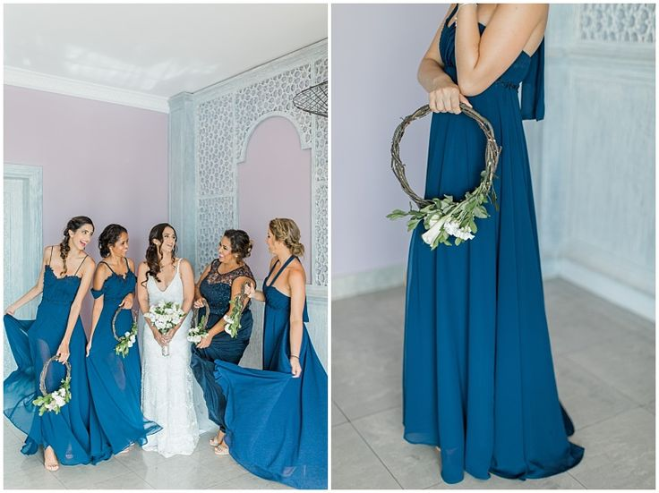 Bridesmaids with alternative wreath-shaped bouquets: http://weddingconcepts.co.za/zanzibar-celebration-jelena-zeins-island-wedding/