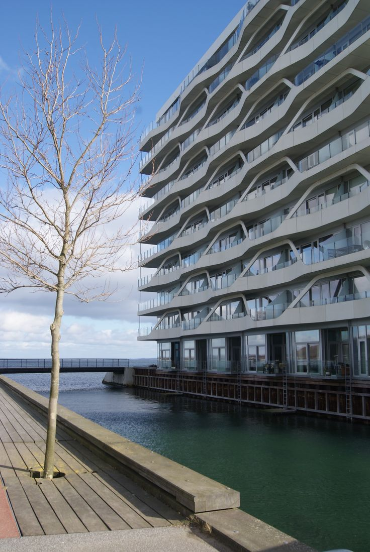 Aarhus modern architecture in the harbour area