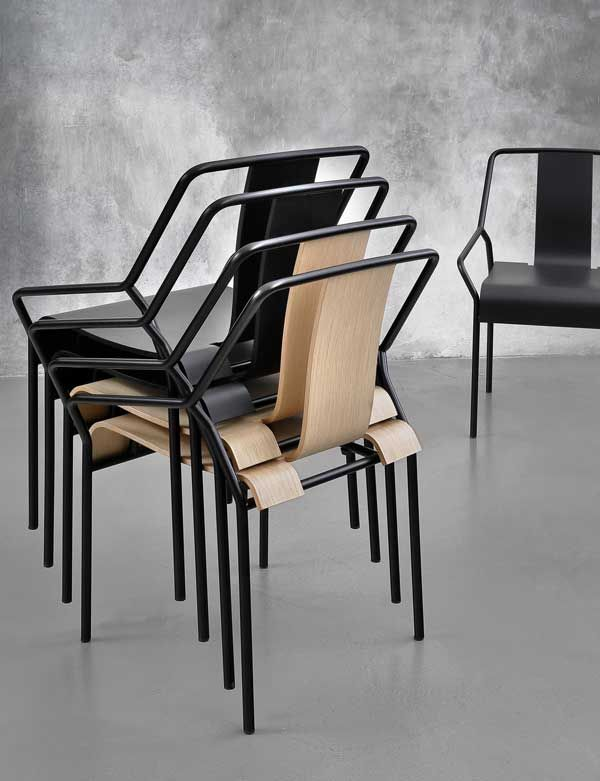 Dao Metal Armchair / 26 Design Stacking Chairs http://vurni.com/design-stacking-chairs/