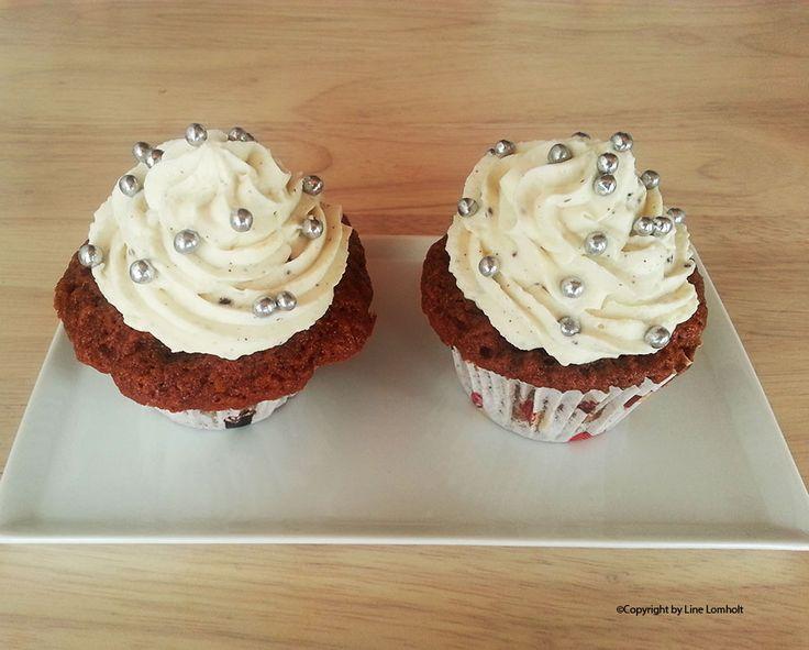 Gulerodsmuffins med mascarponecreme