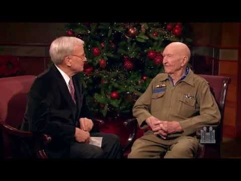 "Gail Halvorsen (The Candy Bomber) This is a great interview…books ""Candy Bomber,"" by Michael TUnnell ""Mercedes and the Chocolate Pilot"" by Margot Raven, ""Christmas from Heaven"" by Tom Brokaw & Robert Barrett"
