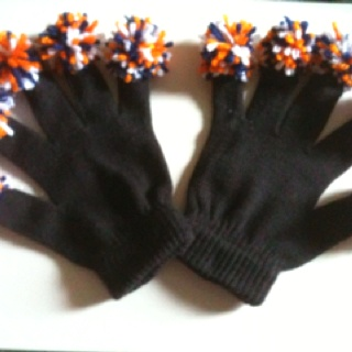 Spirit finger gloves we made for cheerleader competition gifts
