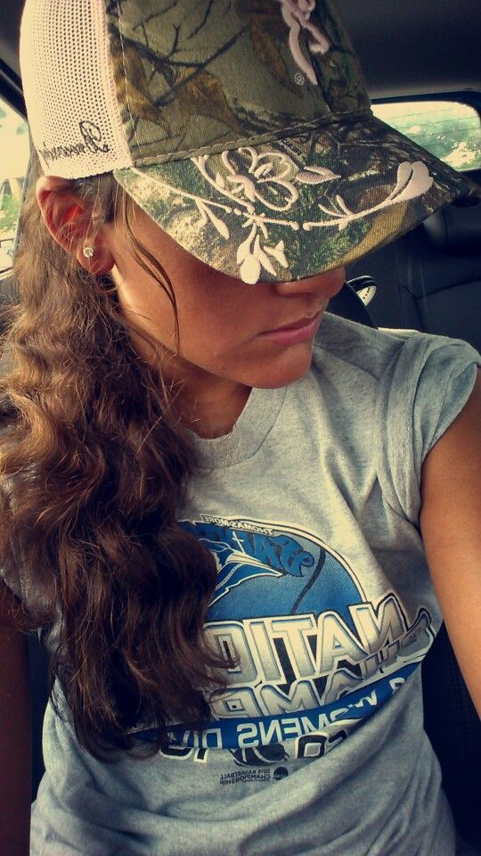 Browning camo ball cap, baseball hat, girls, country