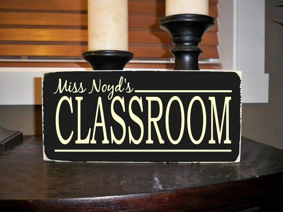 Classroom sign