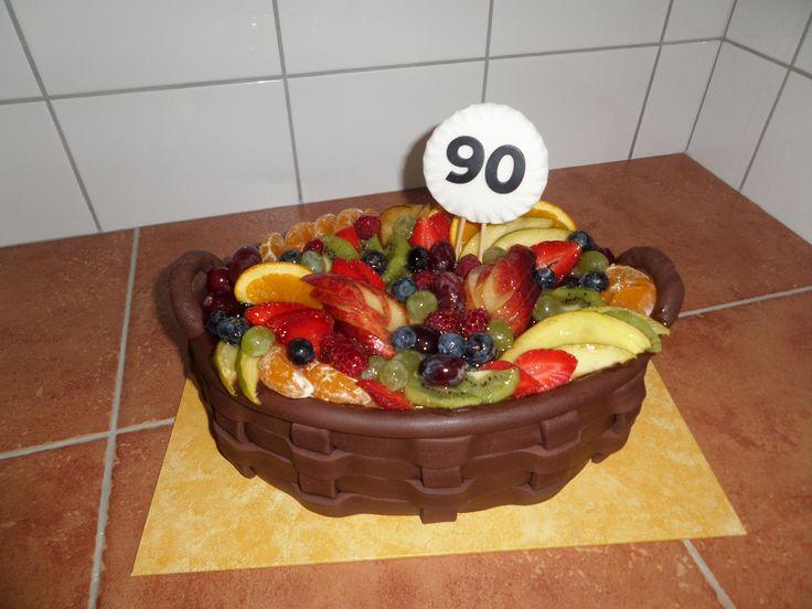 dort - ovocný košík / cake - fruit basket